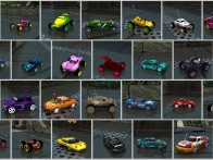 Re-Volt cars with custom aerials
